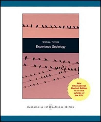 Experience Sociology by William D Hoynes 007122145X