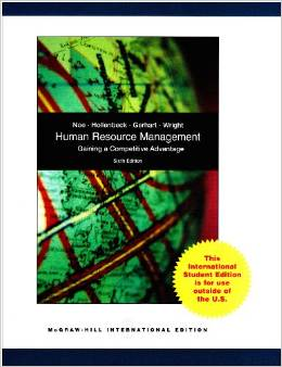 Human Resource Management 6 ED Gerhart
