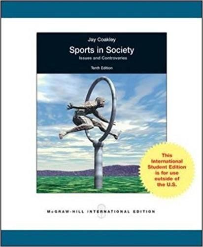 Sports in Society 10 ED by Jay J Coakley 0071285288