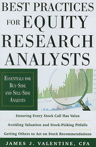 Best Practices for Equity Research Analysts 1 ED Valentine