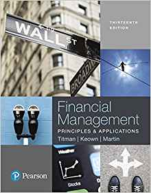 Financial Management 13 ED by Arthur J Keown 0134417216