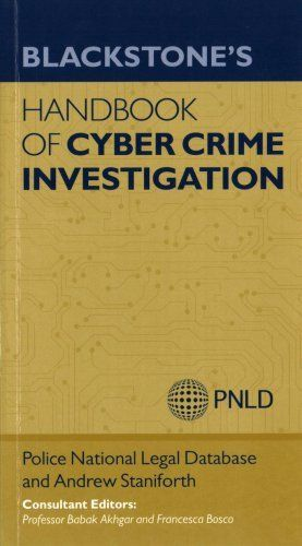 Blackstones Handbook of Cyber Crime Investigation 1 ED by Francesca Bosco 0198723903 US ED