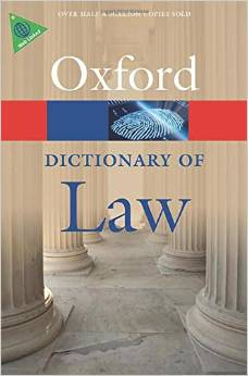 A Dictionary of Law 8 ED by Jonathan Law 0199664927