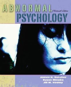 Abnormal Psychology (13 ED) 0205459420