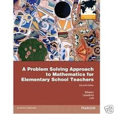 A Problem Solving Approach Mathematics for Elementary School Teachers 11 ED by Johnny W Lott EM 0321756665