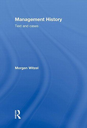 Management History 1 ED by Morgen Witzel 0415963346