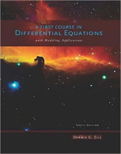 A First Course in Differential Equations With Modeling Applications 10 ED 1111827052