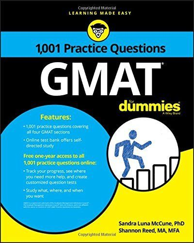 1001 GMAT Practice Questions for Dummies 1 ED by Shannon Reed 1119363128