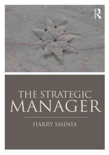 The Strategic Manager 1 ED by Harry Sminia 1138778826 US ED