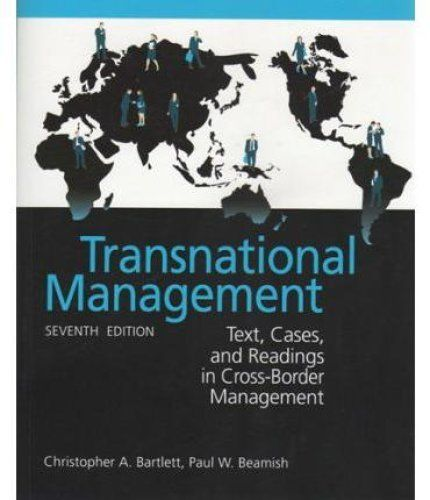 Transnational Management 7 ED by Paul W Beamish 1259010597 EM