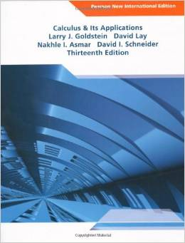 Calculus and Its Applications (13 ED) Goldstein 1292022469