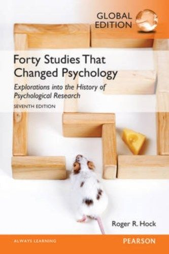 Forty Studies that Changed Psychology 7 ED by Roger R Hock 129207096X EM