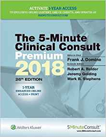 5 Minute Clinical Consult Premium 2018 26 ED by Frank J Domino 1496374657 US ED