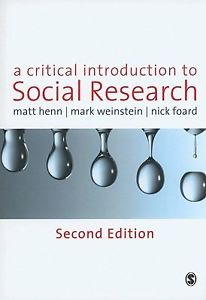 A Critical Introduction to Social Research (2 ED)