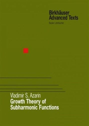 Growth Theory of Subharmonic Functions 2009 ED by Vladimir S Azarin 3764388854 US ED