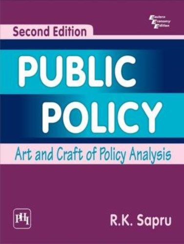 Public Policy 2 ED by R K Sapru 8120344383