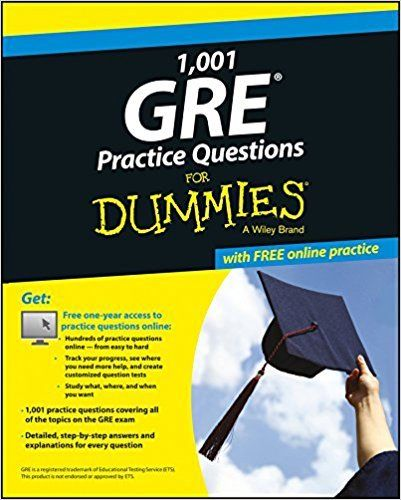 1001 GRE Practice Questions for Dummies 1 ED by Consumer Dummies 8126556528