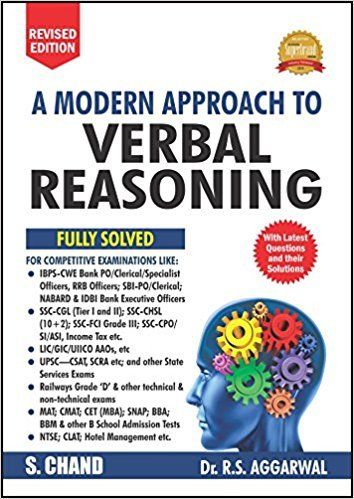 A Modern Approach to Verbal Reasoning by R S Aggarwal 9352535324