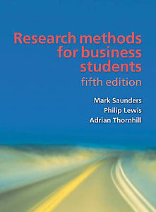 Research Methods for Business Students (5 ED) Saunders